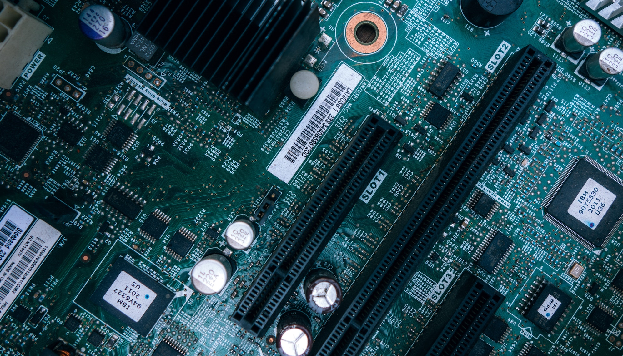 close up image of motherboard