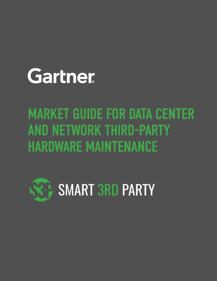 Cover for Gartner's Market Guide for Data Center and Network Third-Party Hardware Maintenance